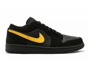 Air Jordan 1 Low Black/ University Gold Black 553558-071