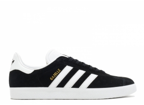 Adidas Gazelle Black White-Gold Metallic BA9595