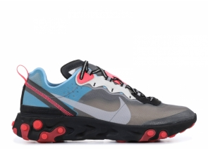 Nike React Element 87 Blue Chill Solar Red AQ1090-006
