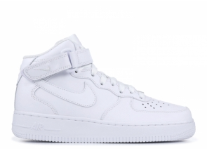 Nike Air Force 1 Mid White '07 WINTER 315123-111 С МЕХОМ
