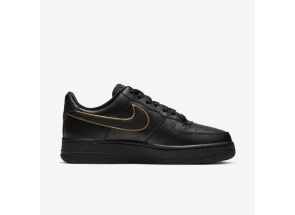 Nike Air Force 1 Low Essential Black Gold Swoosh AO2132-005