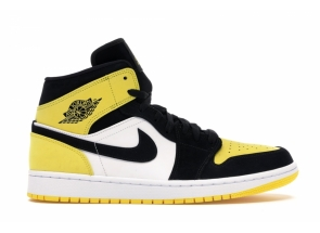 Air Jordan 1 Mid Yellow Toe Black 852542-071