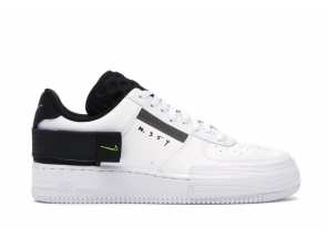 Nike Air Force 1 Type White Black Volt AT7859-101