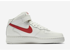 Nike Air Force 1 Mid Sail University Red 315123-126