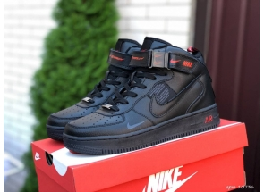 Nike Air Force 1 Mid Thermo Black Red