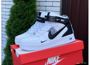 Nike Air Force 1 Mid Thermo White Black