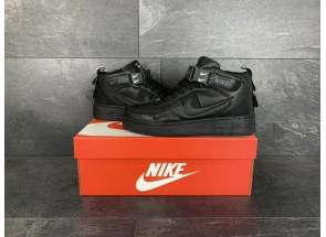 Nike Air Force 1 Mid Utility All Black