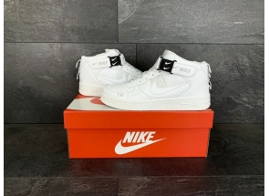 Nike Air Force 1 Mid Utility All White